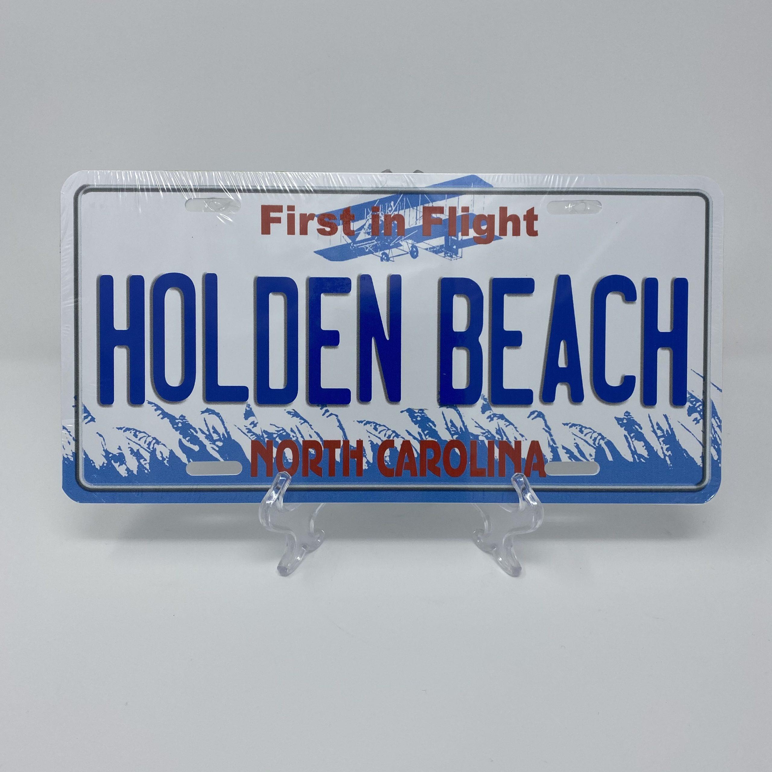 Holden Beach License Plate - First in Flight